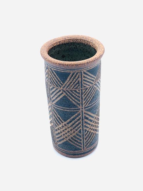 Vintage pottery vase or utensil holder/artist paint brushes