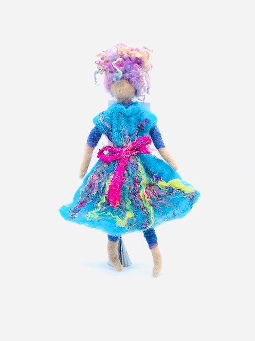 "One of a kind handmade felted doll 10"" (beige skin)"