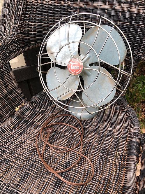 Vintage Torcan metal fan .6amp 115 volts ASIS