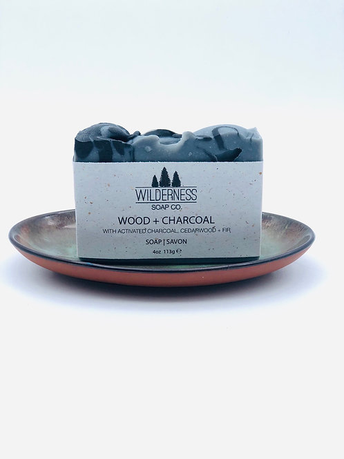 WOOD + CHARCOAL SOAP BAR