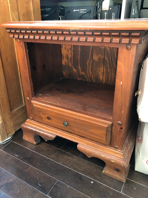 """Solid wood night stand NEEDS A PAINT JOB 16""""D x 25""""L x 26""""H"""