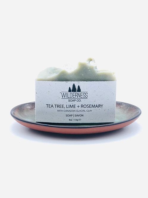 TEA TREE, LIME + ROSEMARY SOAP BAR