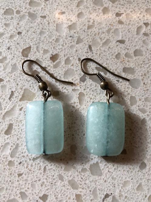Sea glass stone earrings