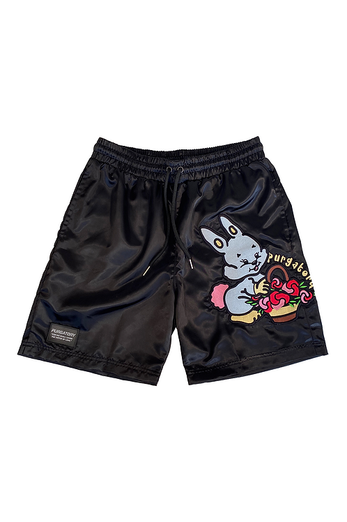 """LOVE FROM PURGATORY"" Satin Shorts"