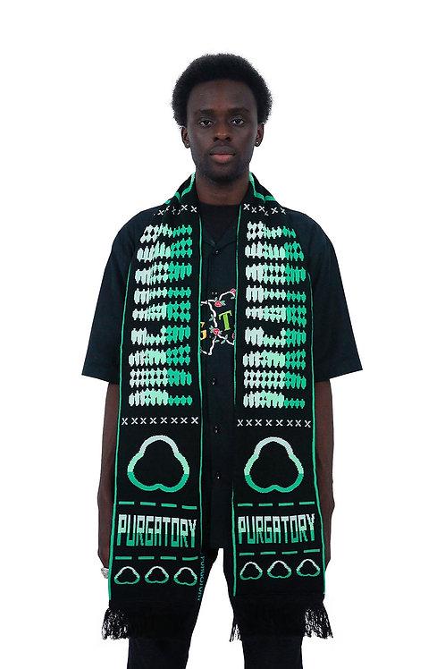 """PURGATORY CUP"" Scarf (Black/Green)"