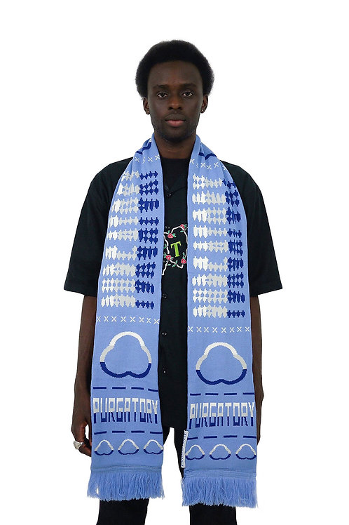 """""""PURGATORY CUP"""" Scarf (White/Blue)"""