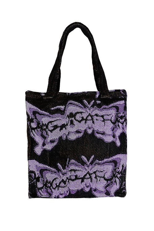 """""""BUTTERFLY EFFECT"""" Tote (Indigo)"""