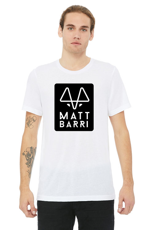 White T-Shirt Black Logo