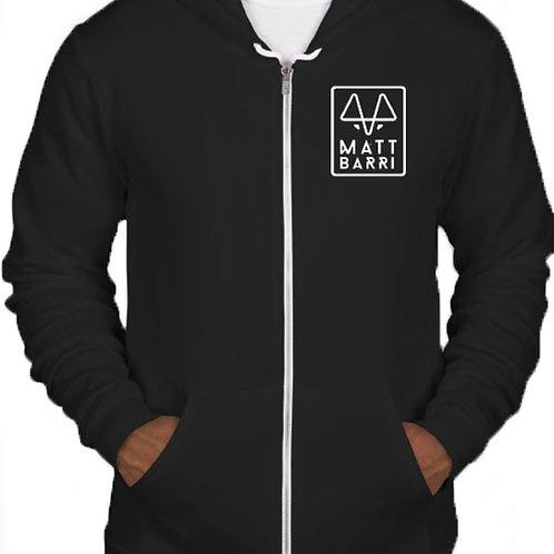 Black Zip-Up Sweatshirt
