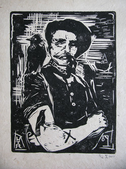 Billy Childish and Jack the Jackdaw