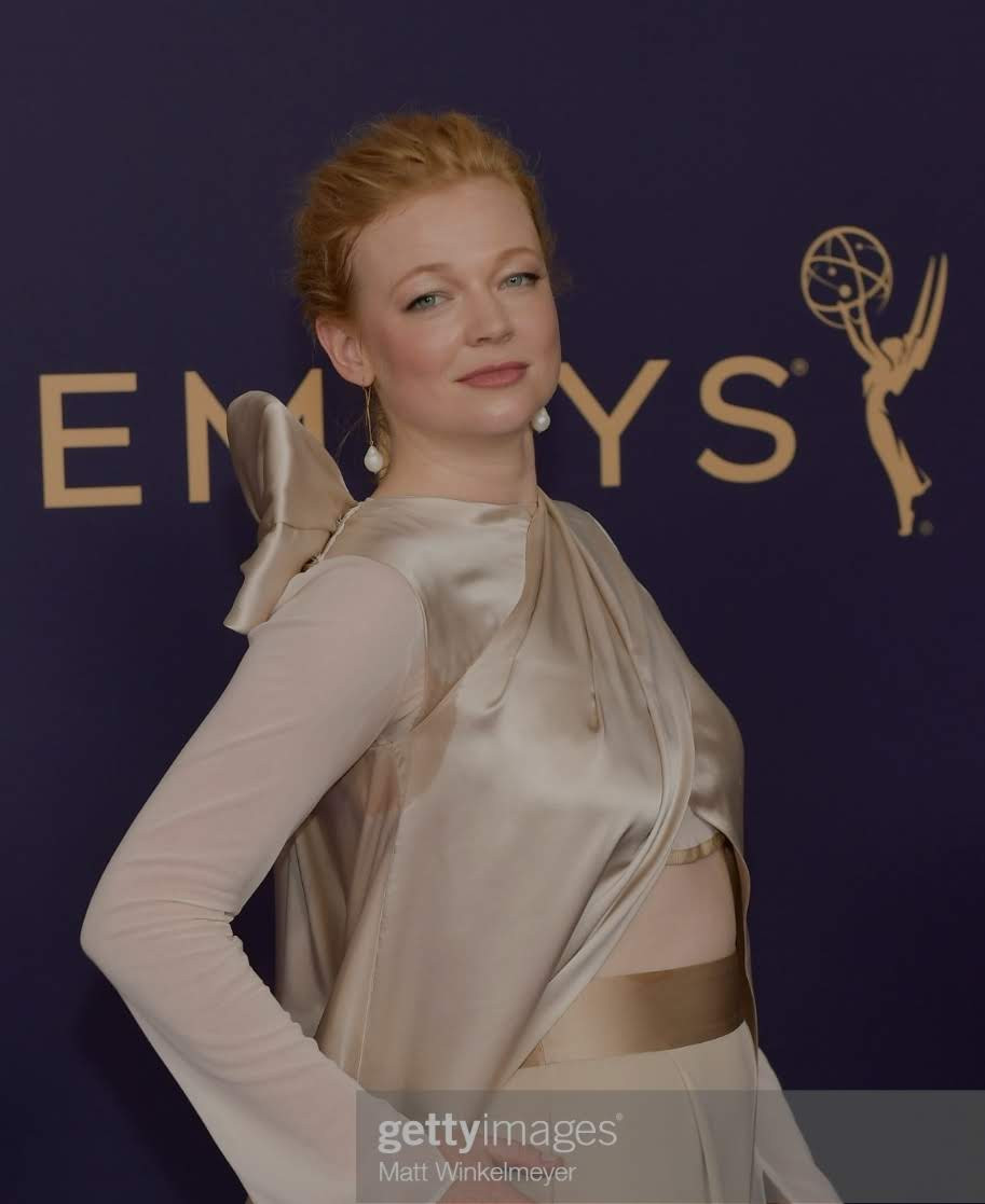 "SARAH SNOOK (of ""Succession"") at THE EMMY AWARDS"