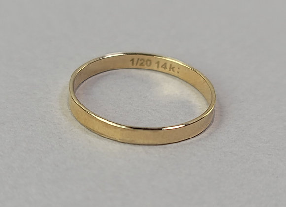 Flat Wide Mirror ring