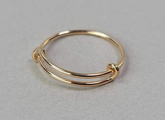 Adjustable Double Band ring