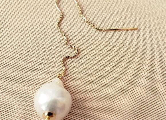 Calla Pearl Threader Earring
