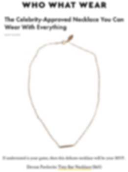 Devon Pavlovits,Who What Wear, Devon Pavlovitz , bar necklace, delicate necklace, gift jewelry,