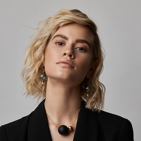 Devon Pavlovits, Christopher Shintani, Devon Pavlovtz, jewelry, glass jewelry, glass orb, glass bubble jewelry, glass and gold, glass earrings, glass necklace,