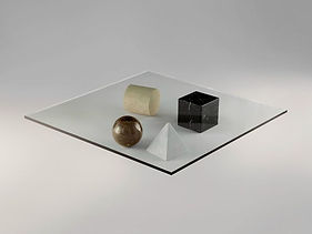 Devon Pavlovits, Devon Pavlovitz, Glass coffee table, Vignelli