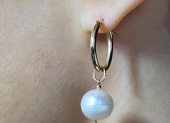 Francoise Dark Pearl Earring
