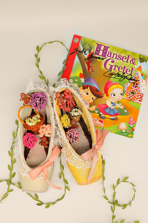 Hansel & Gretel Pair of Customized Pointe Shoes with Autographed Book