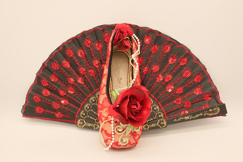 "Customized Ballet Shoe Art ""Don Quixote - Red Lace"""