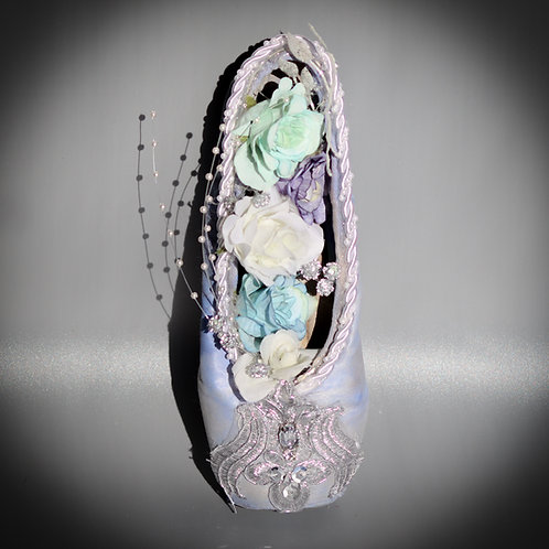 "Customized Ballet Pointe Shoe ""Fairy of the Crystal Fountain"""
