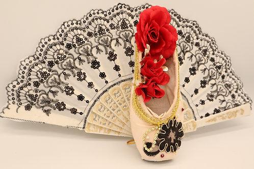 "Customized Ballet Shoe Art ""Don Quixote - White #2"""