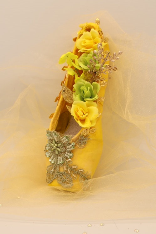 "Customized Ballet Shoe Art ""Cinderella- Summer"""