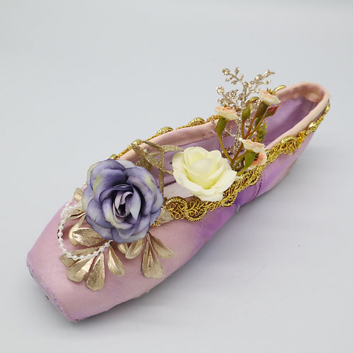 "Customized Ballet Pointe Shoe ""Lilac Fairy"""