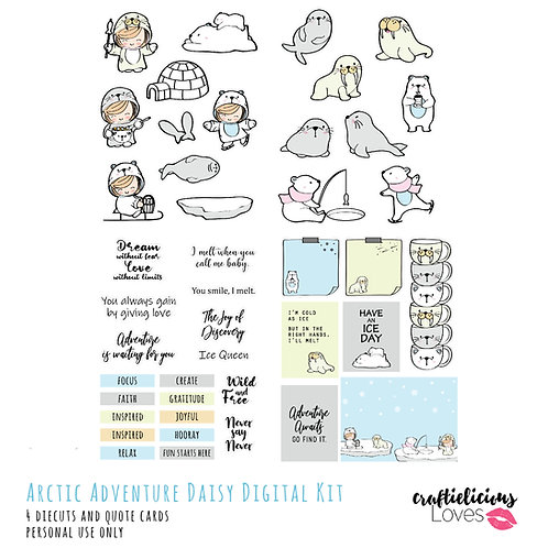 Arctic Adventure - Die Cuts and Cards