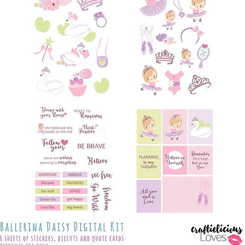 Ballerina Daisy - Die Cuts and Cards