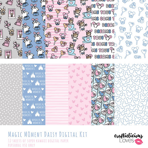 Magic Moment Daisy - Digital Papers