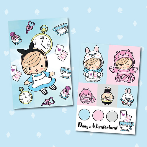Daisy in Wonderland postcard set