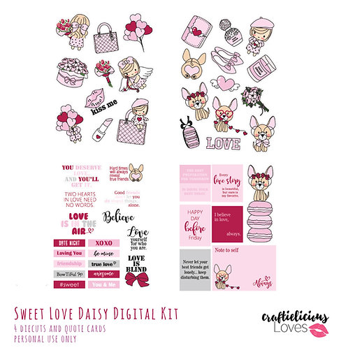 Sweet Love Daisy - Die Cuts and Cards