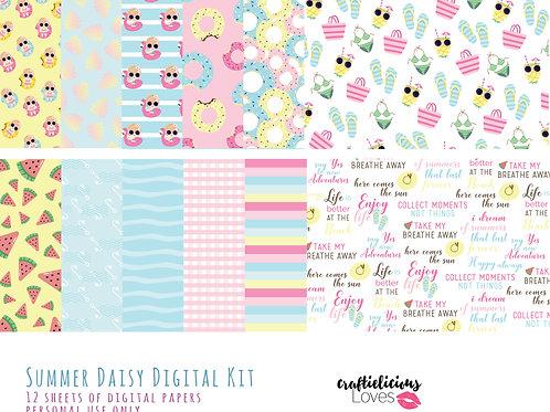 Summer Daisy - Digital Papers
