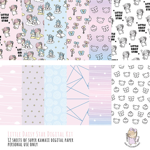 Little Daisy Star - Digital Papers