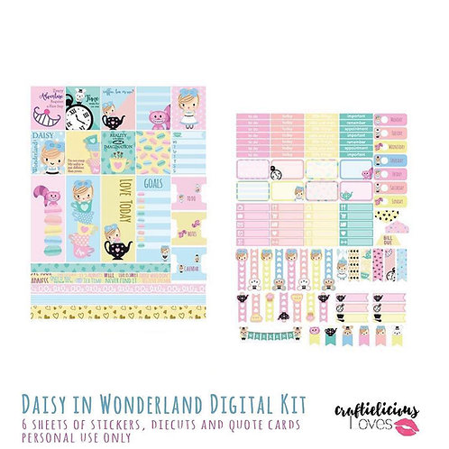 Daisy in Wonderland - Stickers