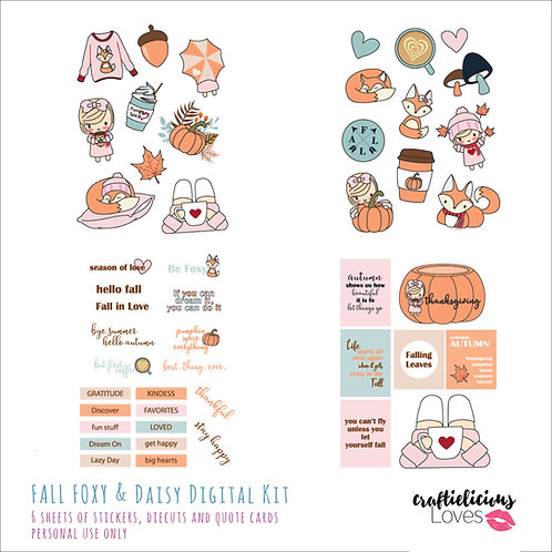 Fall Foxy and Daisy - Die Cuts and Cards