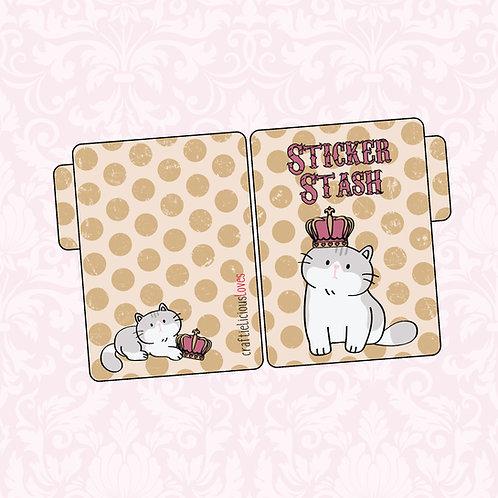 Queen Daisy sticker pocket
