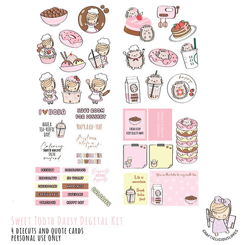 Sweet Tooth Daisy - Die Cuts and Cards