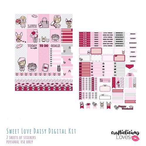 Sweet Love Daisy - Stickers