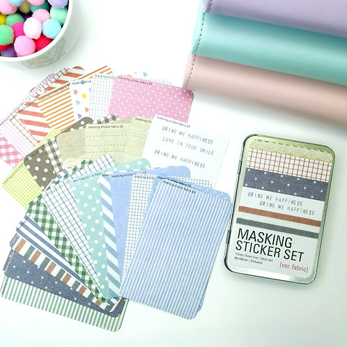Korea masking tape stickers - Fabric