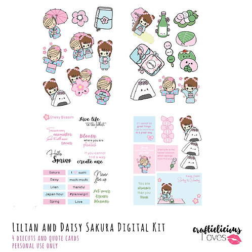 Sakura Daisy - Die Cuts and Cards