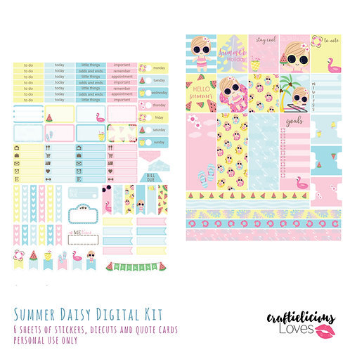 Summer Daisy - Stickers