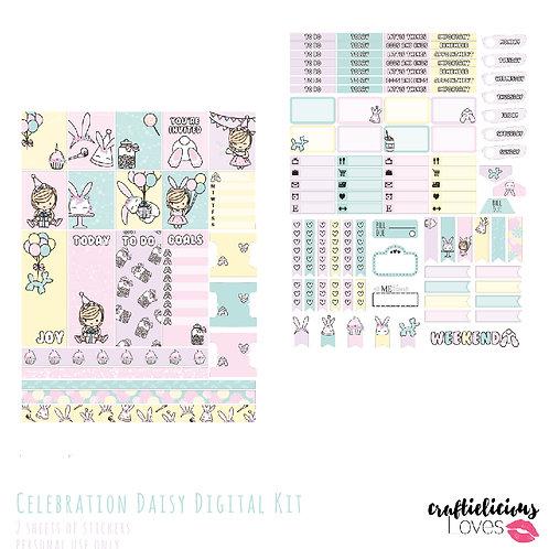 Celebration Daisy - Stickers