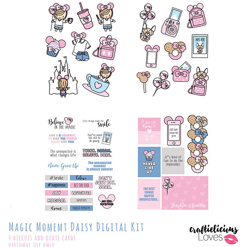 Magic Moment Daisy - Die Cuts and Cards