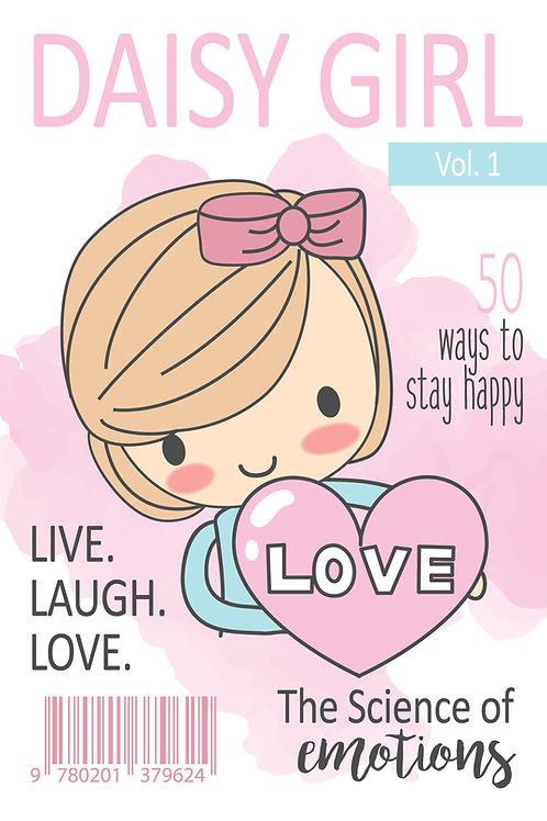 Daisy magazine cover postcard - pink