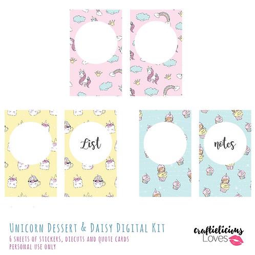 Unicorn Dessert and Daisy - Inserts
