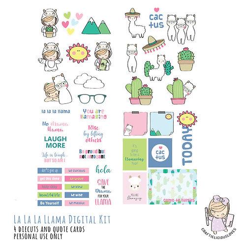 La la la llama - Die Cuts and Cards