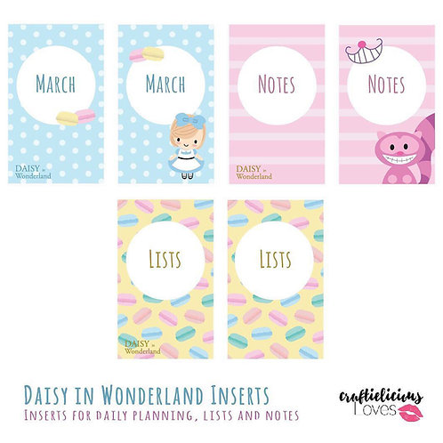 Daisy in Wonderland - Inserts
