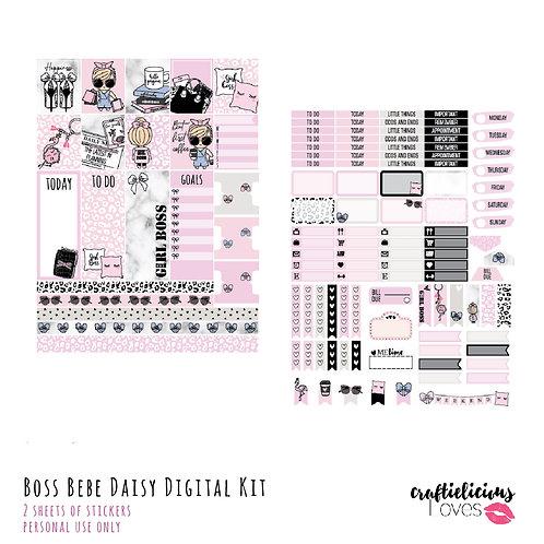 Boss Babe Daisy - Stickers